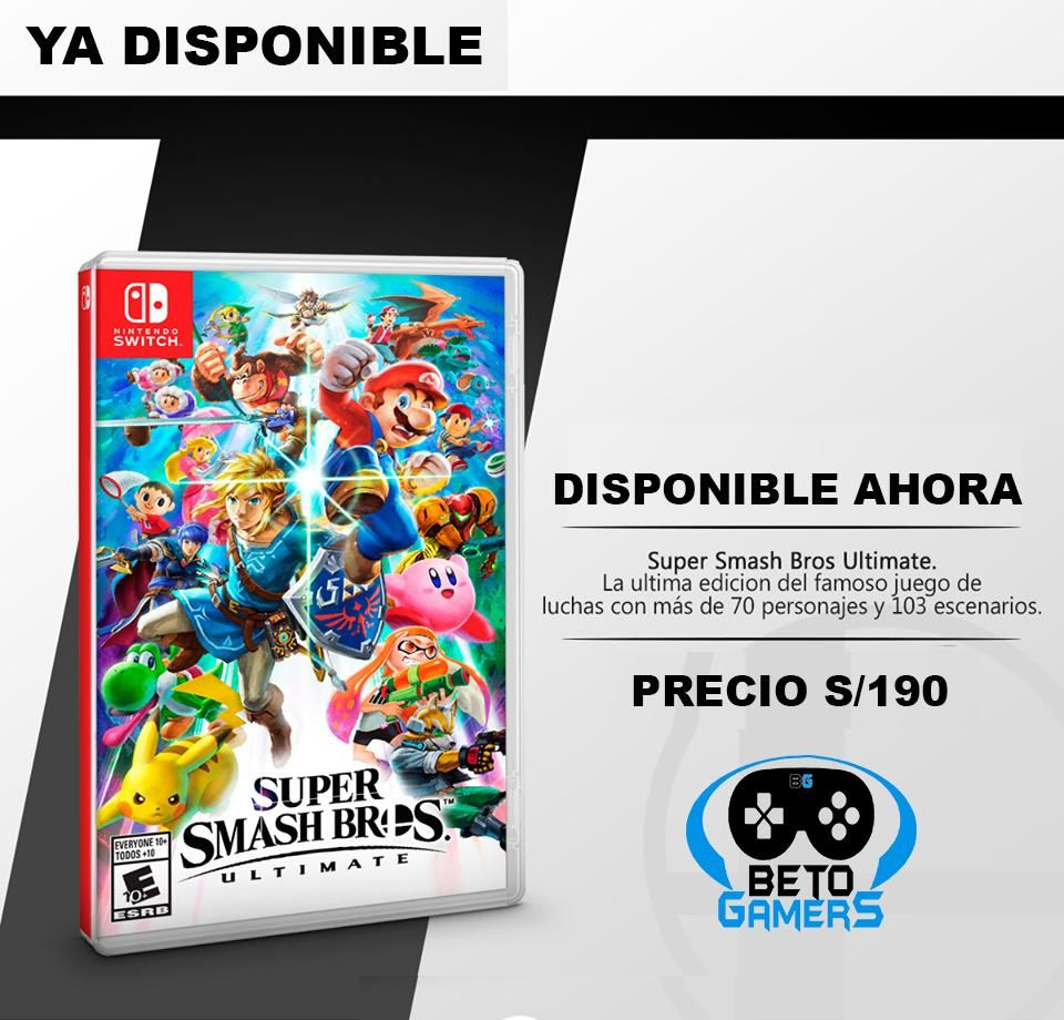 Super smash Bros Ultimate Compralo Ya
