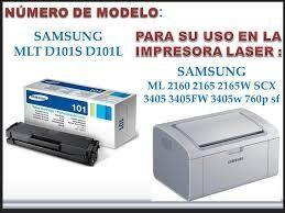 TONER PARA IMPRESORA LASER SAMSUNG ML  MLT D101S