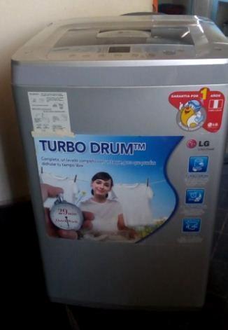 Lavadora Turbo Drum 7.5kg Lg En Buen Estado - Barato