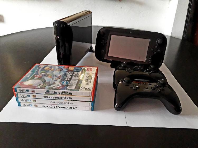 Wii U Deluxe 32gb 4 Juegos Mando Extra