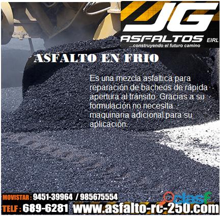 Venta de Asfalto en Frio,Asfalto RC 250, en Lima y provincia
