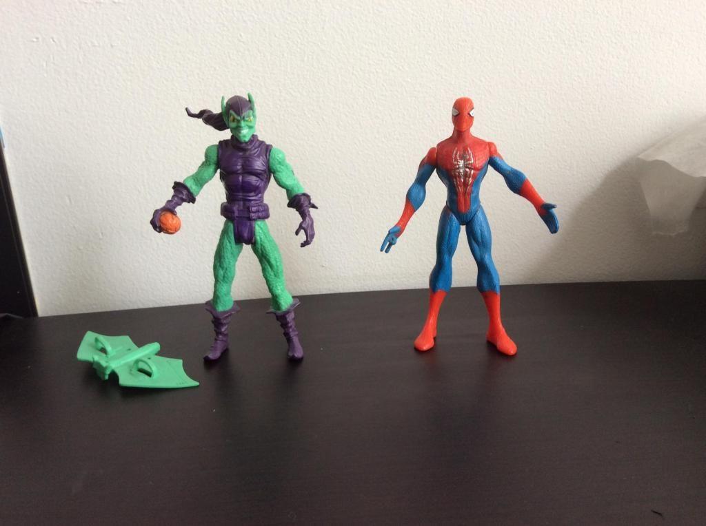 Hombre araña y Duende verde figuras de acción más el