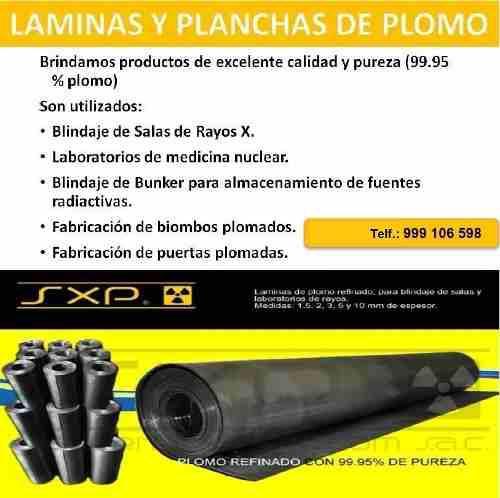 Laminas, Rollos Y Planchas De Plomo
