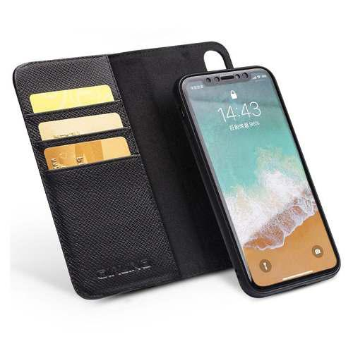Qialino Funda Case Desmontable Cuero Genuino iPhone X Xs Max