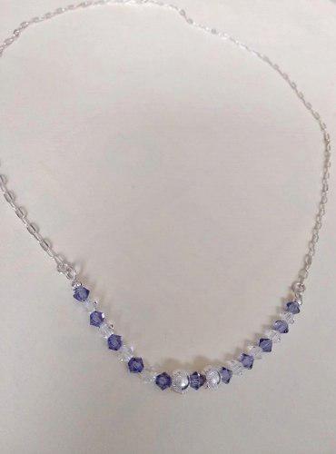 Collar De Plata Y Cristal Swarovski Joyas Regalo Mujer Mamá