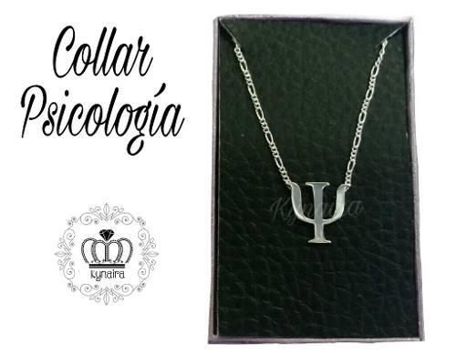 Dije Y Cadena Plata 950 Collar Profesion Psicologia