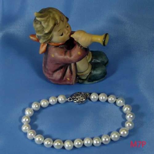 Pulseras De Perlas Genuinas Cultivadas De 7-8mm