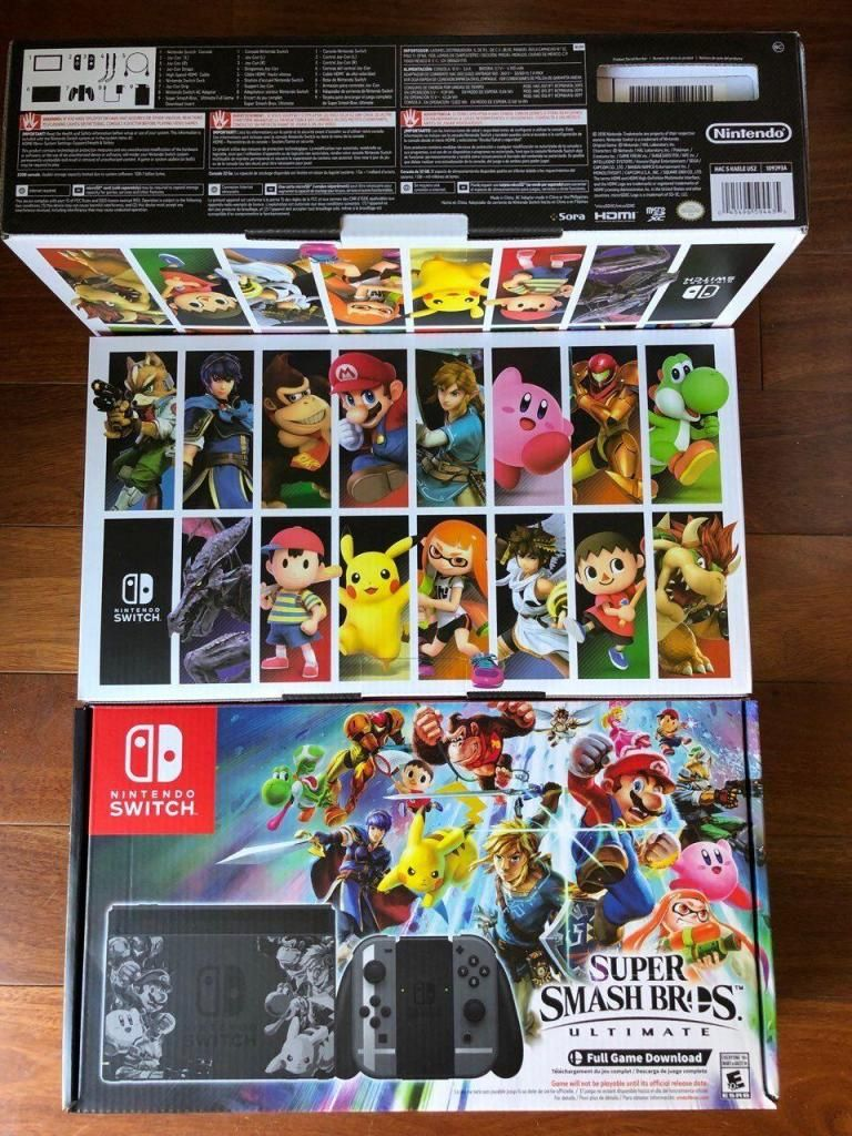 Consola Nintendo Switch Super Smash Bros Ultimate Delivery