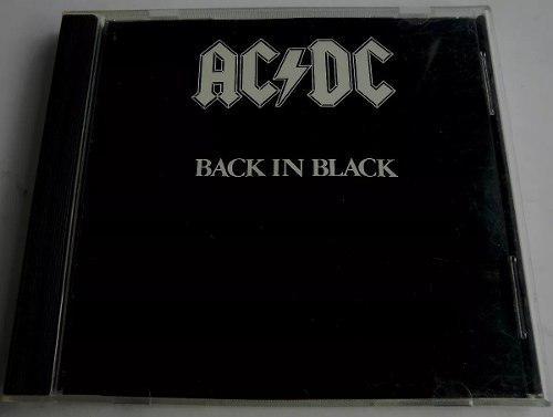 Ac Dc Cd Original - Black In Black / Made In Usa