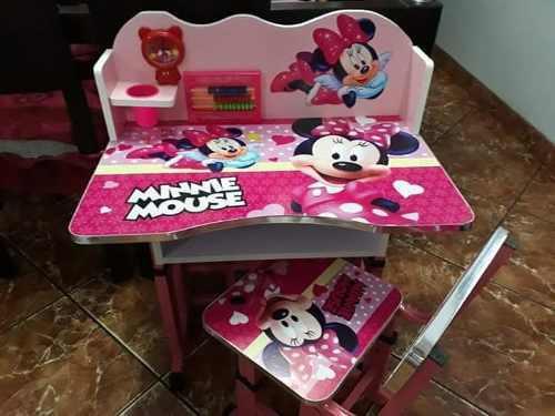 Mesa Escritorio Con Una Silla Minnie Frozen Mickey Envio Pro
