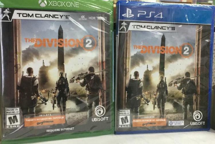 Tom Clancys The Division 2 Xbox One Nuevo y Sellado Stock