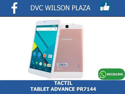 Tablet Advance Pr 7144.... Tactil Original