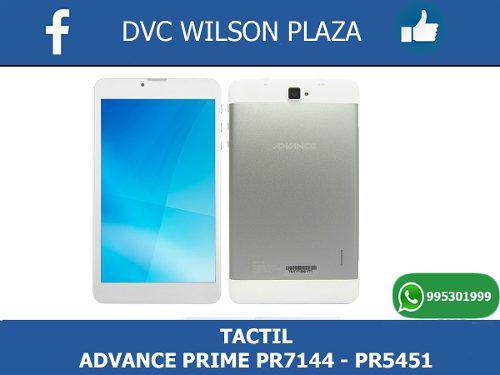 Tactil Tablet Advance Pr 7144....prime Pr 5451