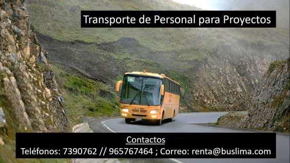 Transporte de personal para proyectos en Lima
