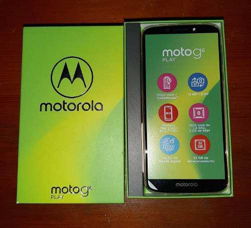 Celular Nuevo En Caja Motorola Moto G6 Play