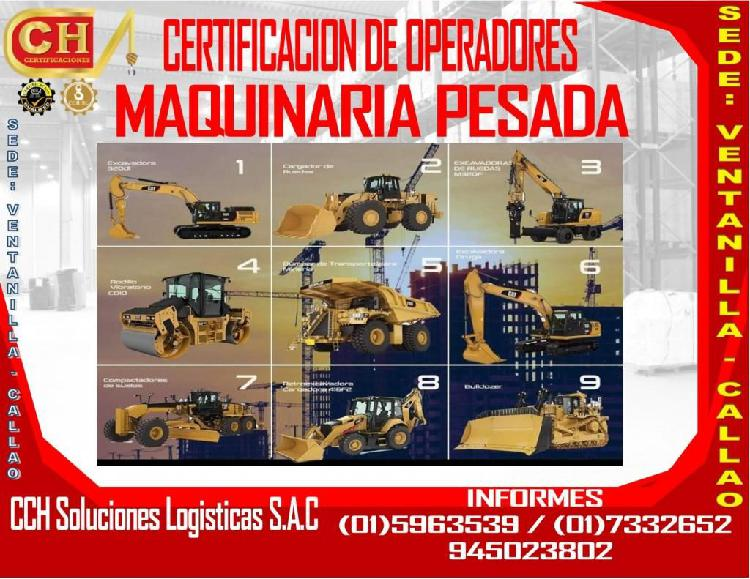 FORMACION DE OPERADORES DE MAQUINARIA