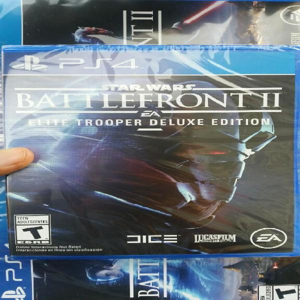 Star Wars Battlefront 2 Deluxe Edition Ps4 Sellado Stock