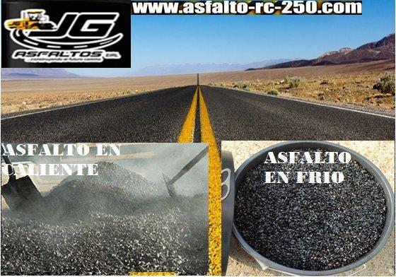 asfalto en frio y caliente puesto en obra