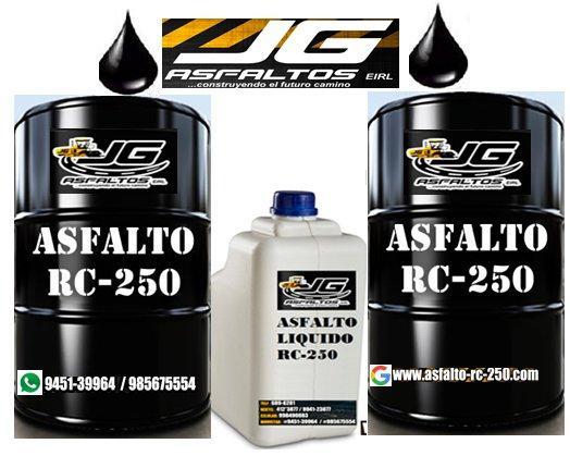 asfalto rc-250 al 100% garantizado