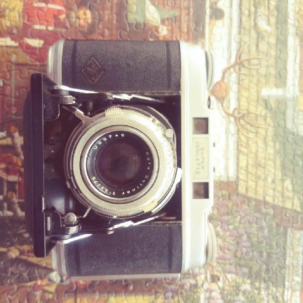 Agfa super isolette, cámara antigua, vintage, Agfa,