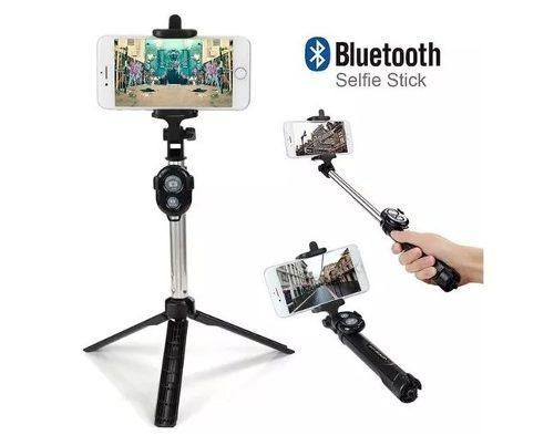 Kit Monopod Bluetooth + Tripode Baston Palo Selfies Celular
