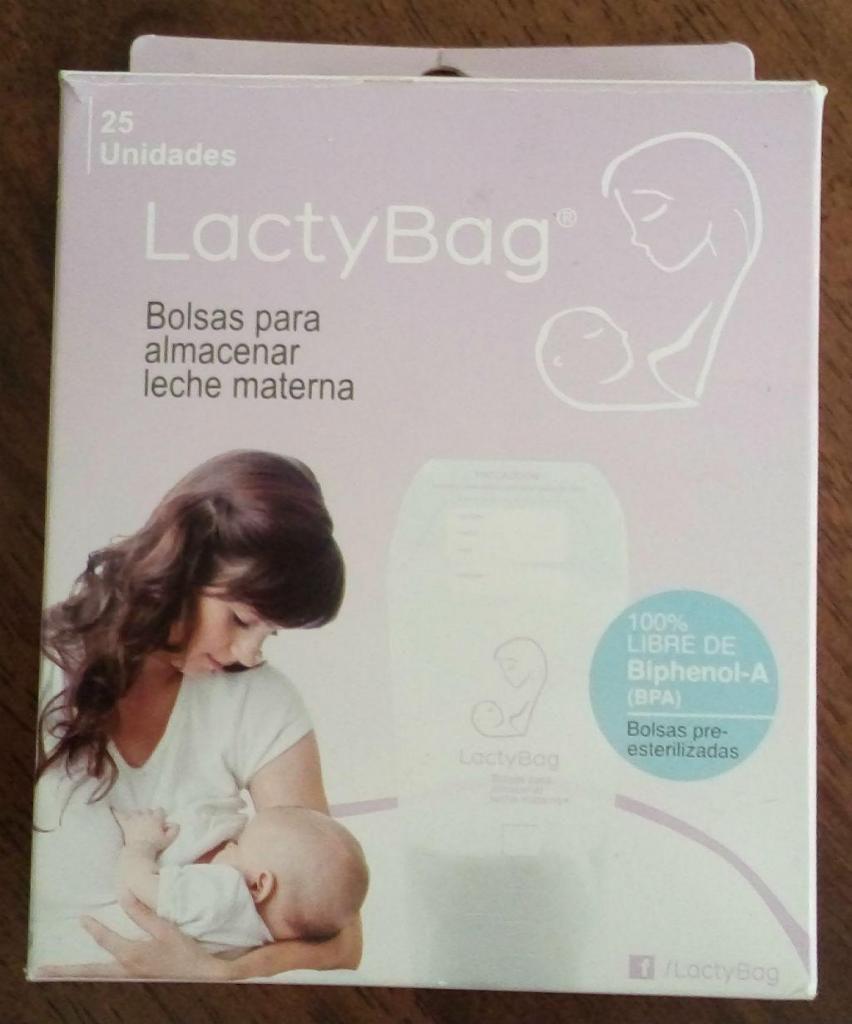 Lactybag Bolsas para almacenar leche materna x 25 unidades.