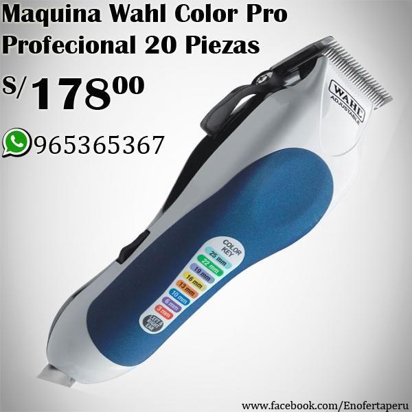 Maquina de Corte WAHL Color Pro Profesional 20 Piezas