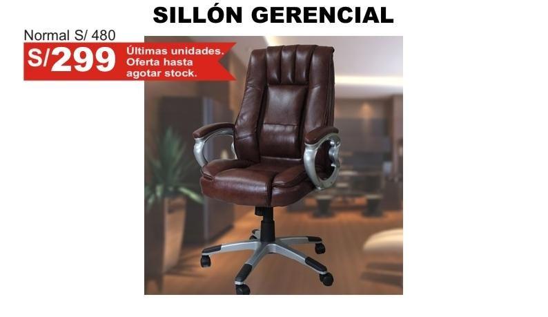 Sillón gerencial de oficina respaldo alto giratoria silla