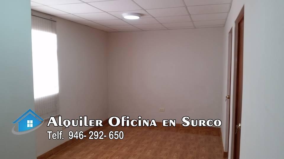ALQUILER OFICINA EN SURCO - SAN ROQUE