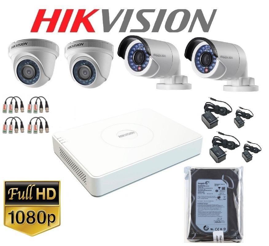 kit de 04 camaras de seguridad FULLHDp CCTV completo...
