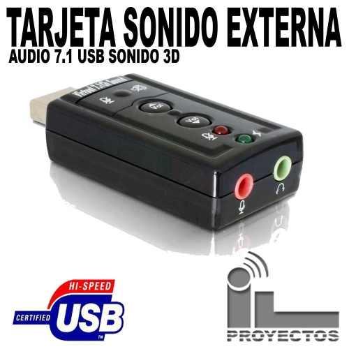 Tarjeta Sonido 7.1 Usb Audio 3d Microfono Externo Original