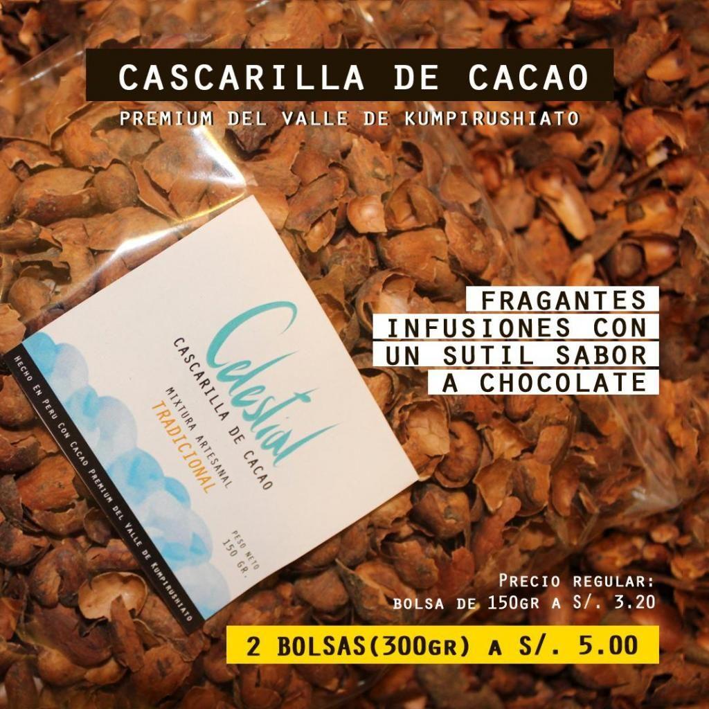 Celestial 2 Bolsas de cascarilla de Cacao Premium para