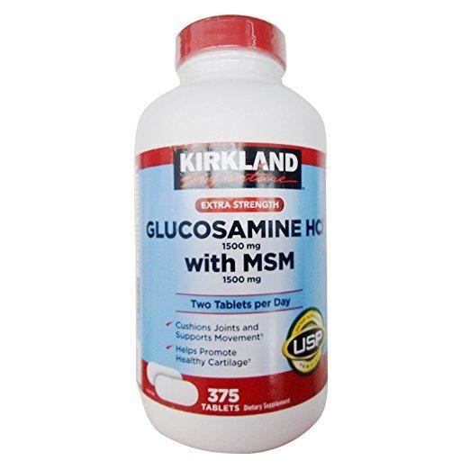 Kirkland Signature. Glucosamine HCI extra fuerte con MSN