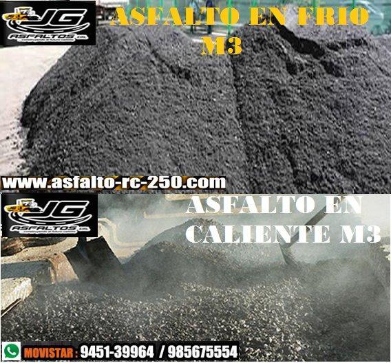 asfalto en frio y asfalto en caliente a buen precio