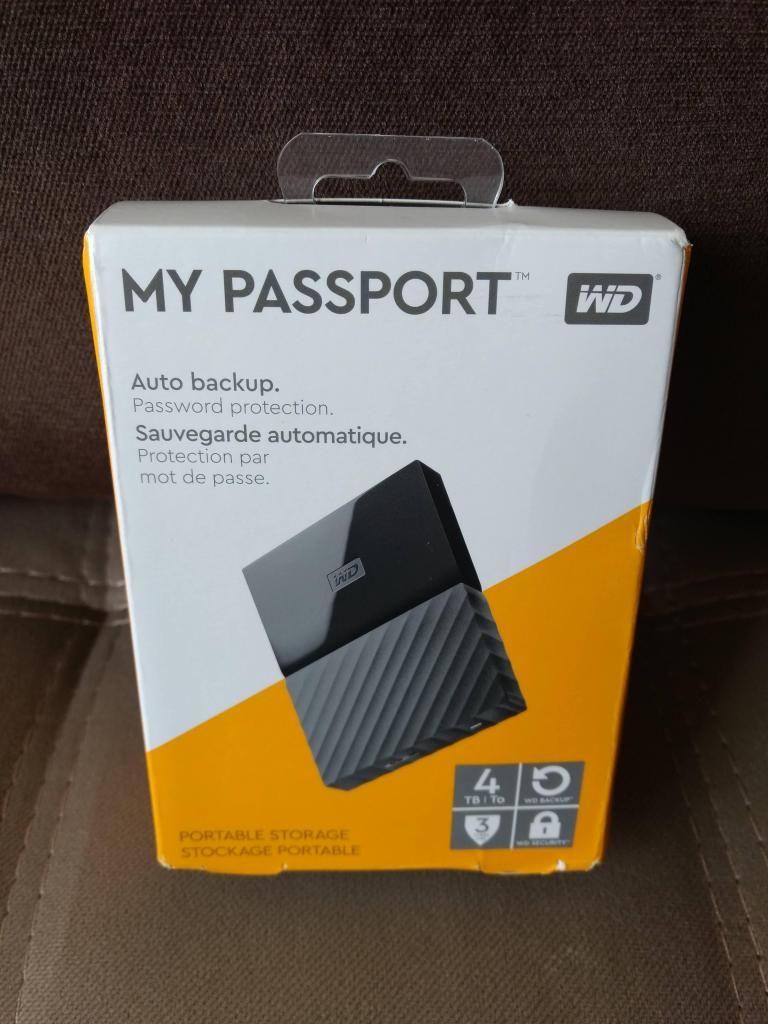 Disco Externo 4TB Western Digital My Passport USB 3.0 (nuevo