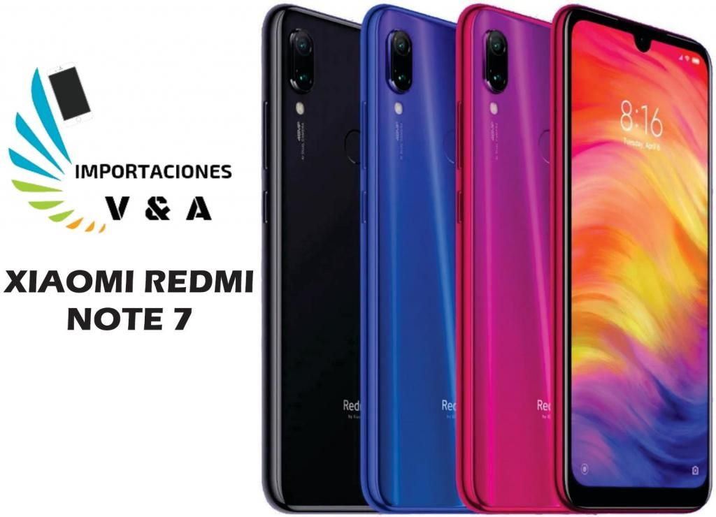 XIAOMI REDMI NOTE 7 GLOBAL 4RAM/64GB NUEVOS Y SELLADOS