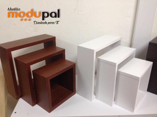 Pack de 3 Cubos Decorativos Melamina, Muebles,repisa
