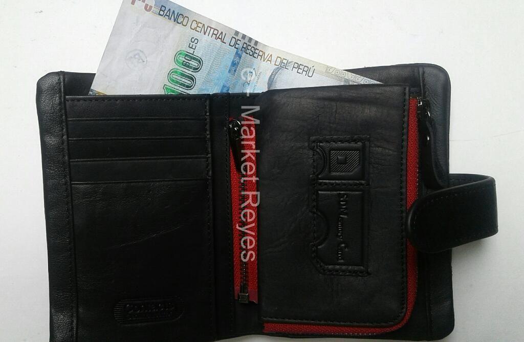 Billetera de Cuero para Hombre Contact's