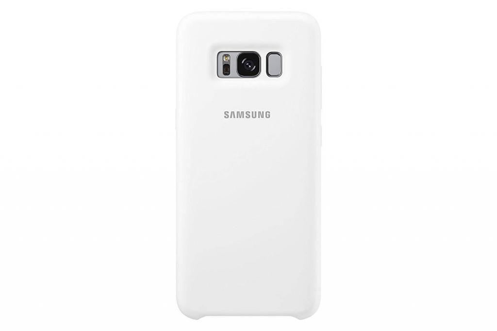Case Carcasa Original Silicone Cover Para Samsung S8 Blanco