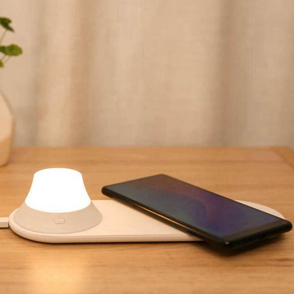 Xiaomi Yeelight Cargador inalámbrico con LED Luz Nocturna
