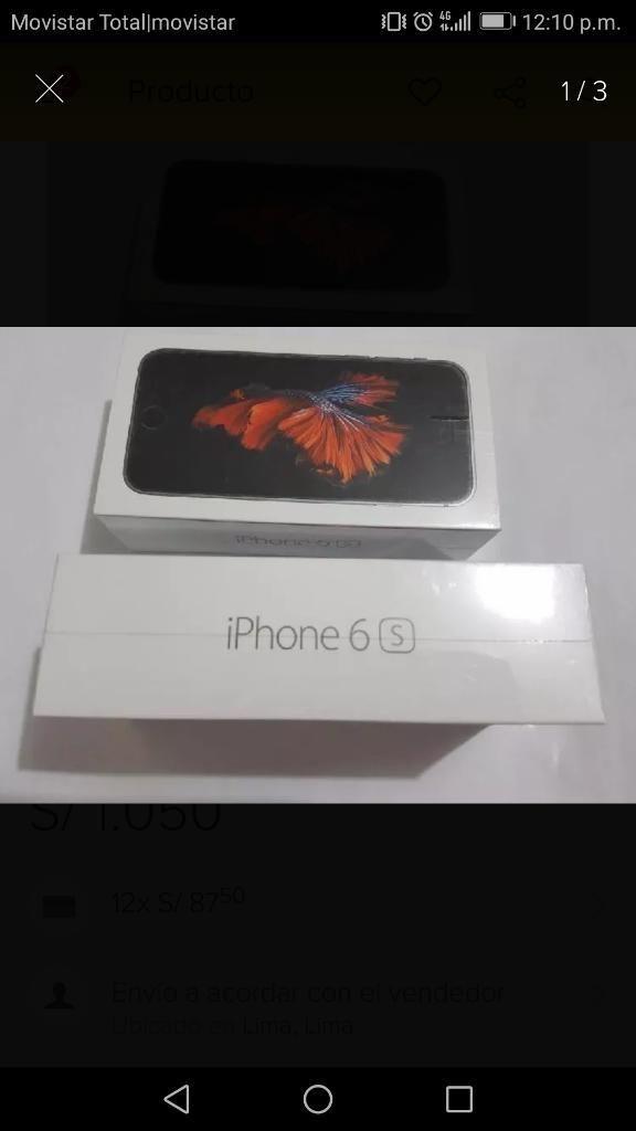 iPhone 6s 32 Gb. Nuevo en Caja