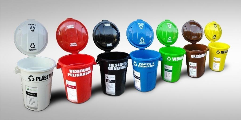 Tachos para basura, contenedores, tachos ecológicos J X
