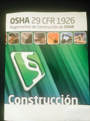 REGLAMENTOS OSHA 29 CFR  SEGURIDAD Y SALUD OCUPACIONAL
