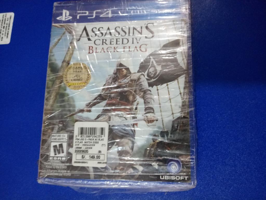 Juegos de Ps4 Assassins Creed Iv/ Watchd