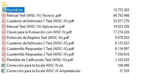 Test Wisc Iv Y Wisc V entre Otros