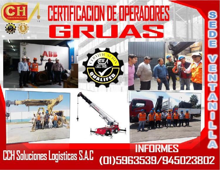 FORMACION DE OPERADORES DE GRUAS, ASME B30.5 /B30.22 /B30.
