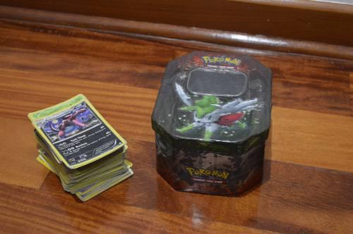 Lata De Cartas Pokemon + 100 Cartas