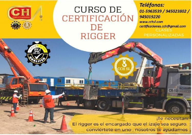 RIGGER, CAPACITACION, CERTIFICACION Y HOMOLOGACION CURSO DE