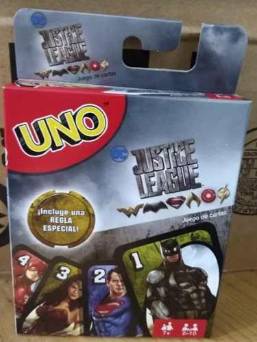 Set Cartas Uno Liga De La Justicia Regalo Navidad