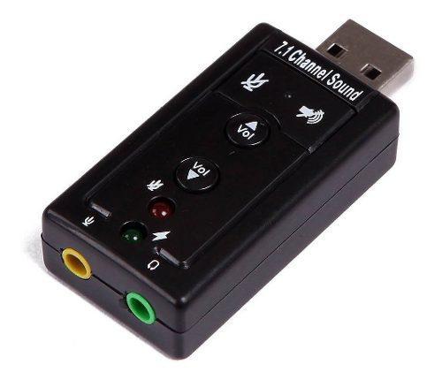 Tarjeta Sonido 7.1 Usb Audio 3d Microfono Externo Delivery!